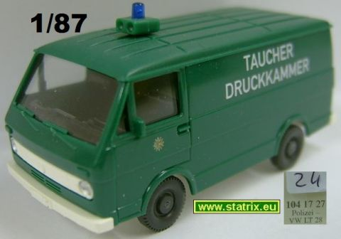 ma24/ Wiking 1041727 Police-VW LT 28 Divers RECOMPRESSION chambe