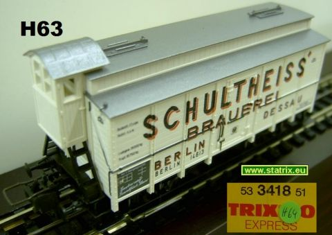 H64 / Trix Express 3418.51 Beer refrigeratorcar
