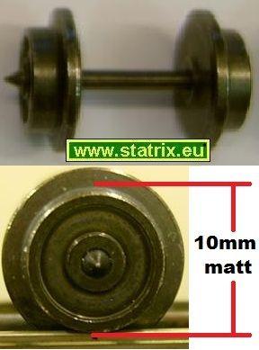 zu131/ Trix Express axle, diameter 10mm matt, neu