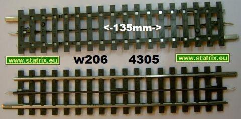 w206/ Trix Express 4305 straight 135mm long