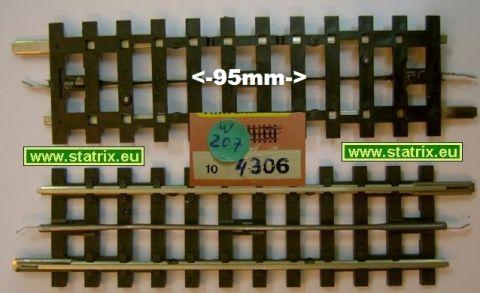w207/ Trix Express 4306 straight 95mm long