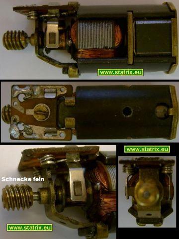 Trix Motor Antriebsmodul: feine Antriebs Schnecke Typ3