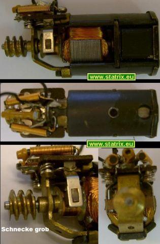 Trix  Motor 0121 Antriebsmodul: grobe Antriebs Schnecke typ4g