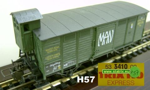 H57 / Trix Express 3410 bavarian Privatboxcar MAN