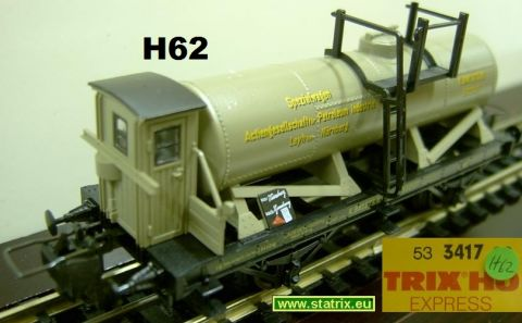 H62 / Trix Express 3417 bavarian Tank car