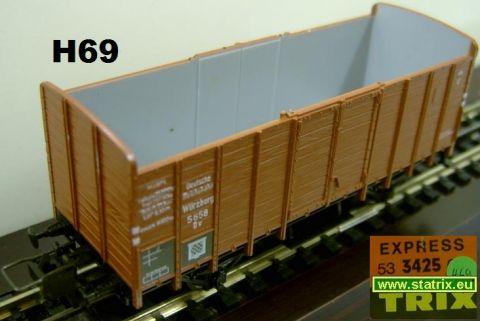 H69 / Trix Express 3425 Hooper car