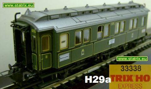 H29a / Trix Express 33338 Schnellzugwagen AB 1.-2. class