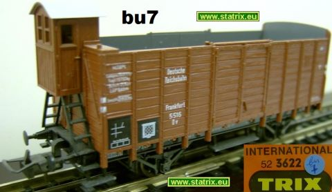 bu7 / Trix Intl. 3622 hoppercar with breakmenshause DR