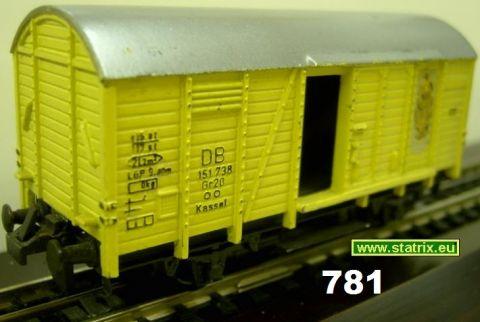 781/ Trix Express 461, 3461 boxcar yellow
