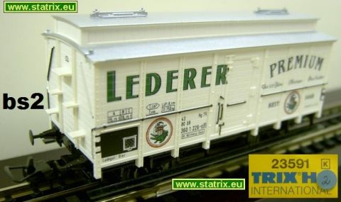 bs2/ Trix International 23519K Beercar from the Lederer browerie