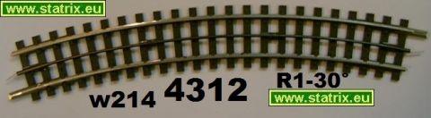w214/ Trix Express 4312 curved