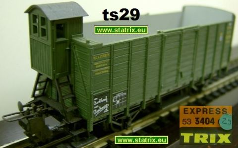 ts29/ Trix Express 3404 bavarian open car with break mens