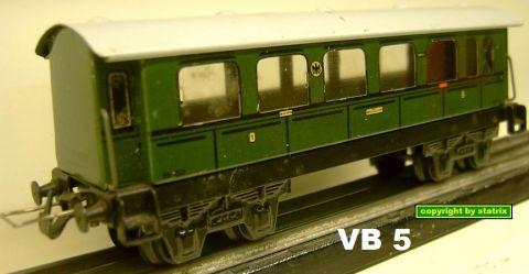 Trix Express 20/152/1 1.-2. Kl Personenwagen (VB 5)