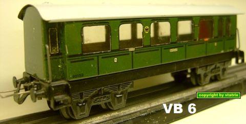 Trix Express 20/152/1 1.-2. Kl Personenwagen (VB 6)