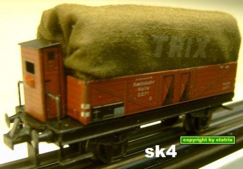 Trix Express 20/76 Planewagen mit Bremserhaus (sk4)