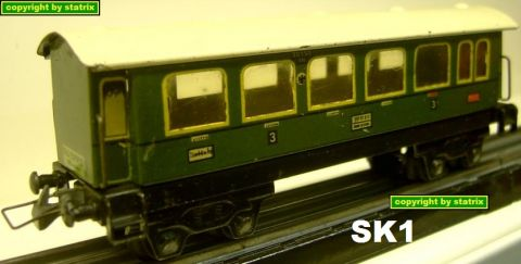 Trix Express 20/152 3. class coach green grün (sk1)
