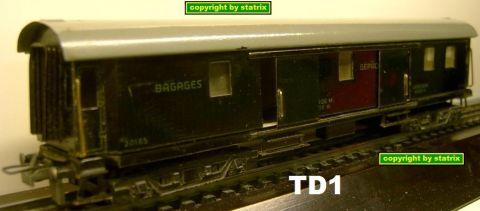 Trix Express 20/165 Wagon-Lit Bagage (td1)