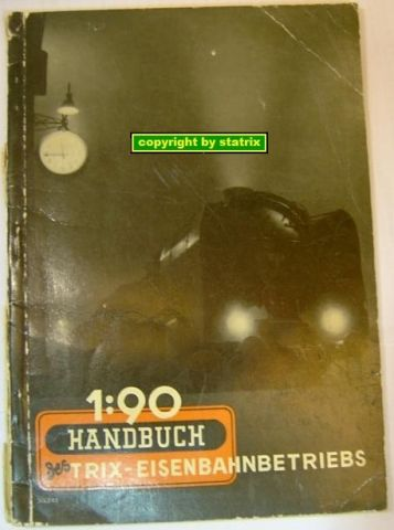 Handbook 1:90 for the Trix Express Train (bak4/13/2)