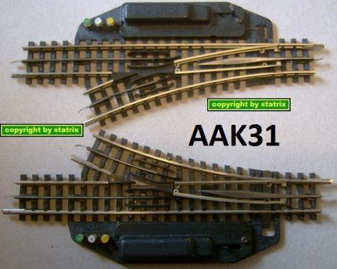 Trix Express 4362 1 Paar elektr. Weichen sehr gut aak31