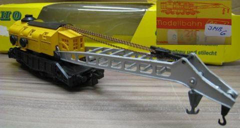 Liliput 210 Kranwagen gelb (jmb6), Original für Trix Express