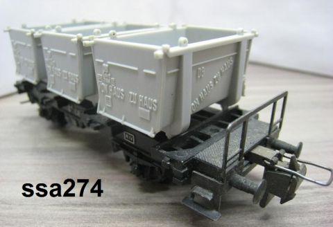 Trix Express 3457 Behältertragwagen offene Behälter (ssa274)