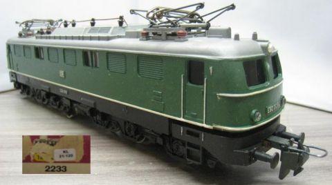 Trix Express 2233 Güterzug-Lokomotive E 50 009 grün der DB (21-120)